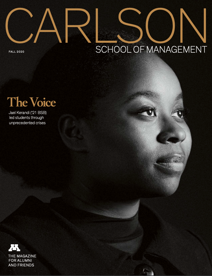 Fall 2020 alumni magazine cover