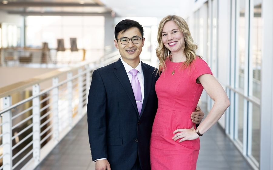 MBA students Alex Feng and Heidi Dickson
