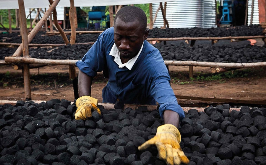 Green Bio Energy is a Uganda company that creates briquettes made from organic waste.