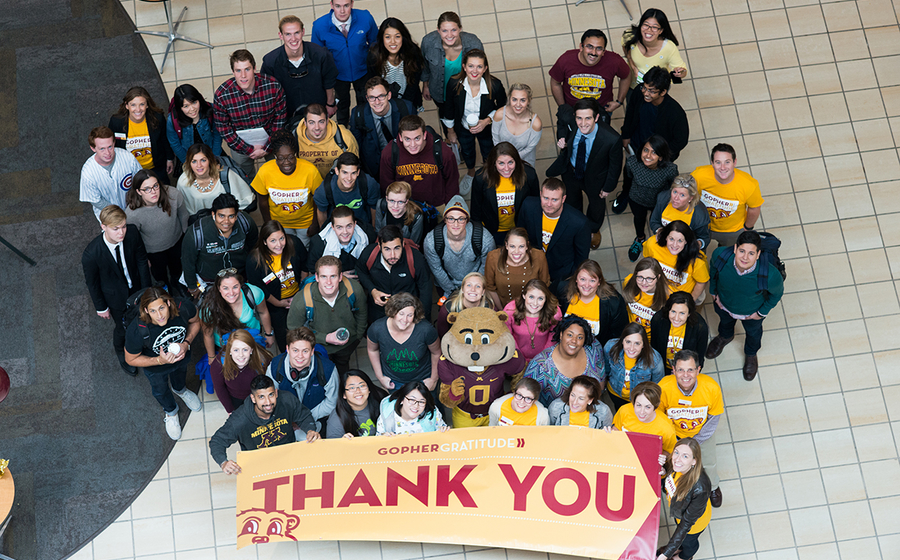 Gopher Gratitude and Give to the Max Day 2016
