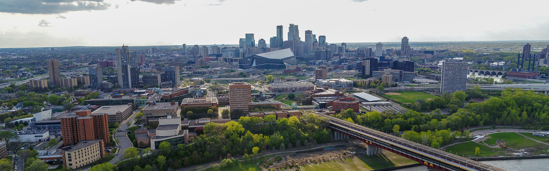 Downtown Minneapolis aerial photo