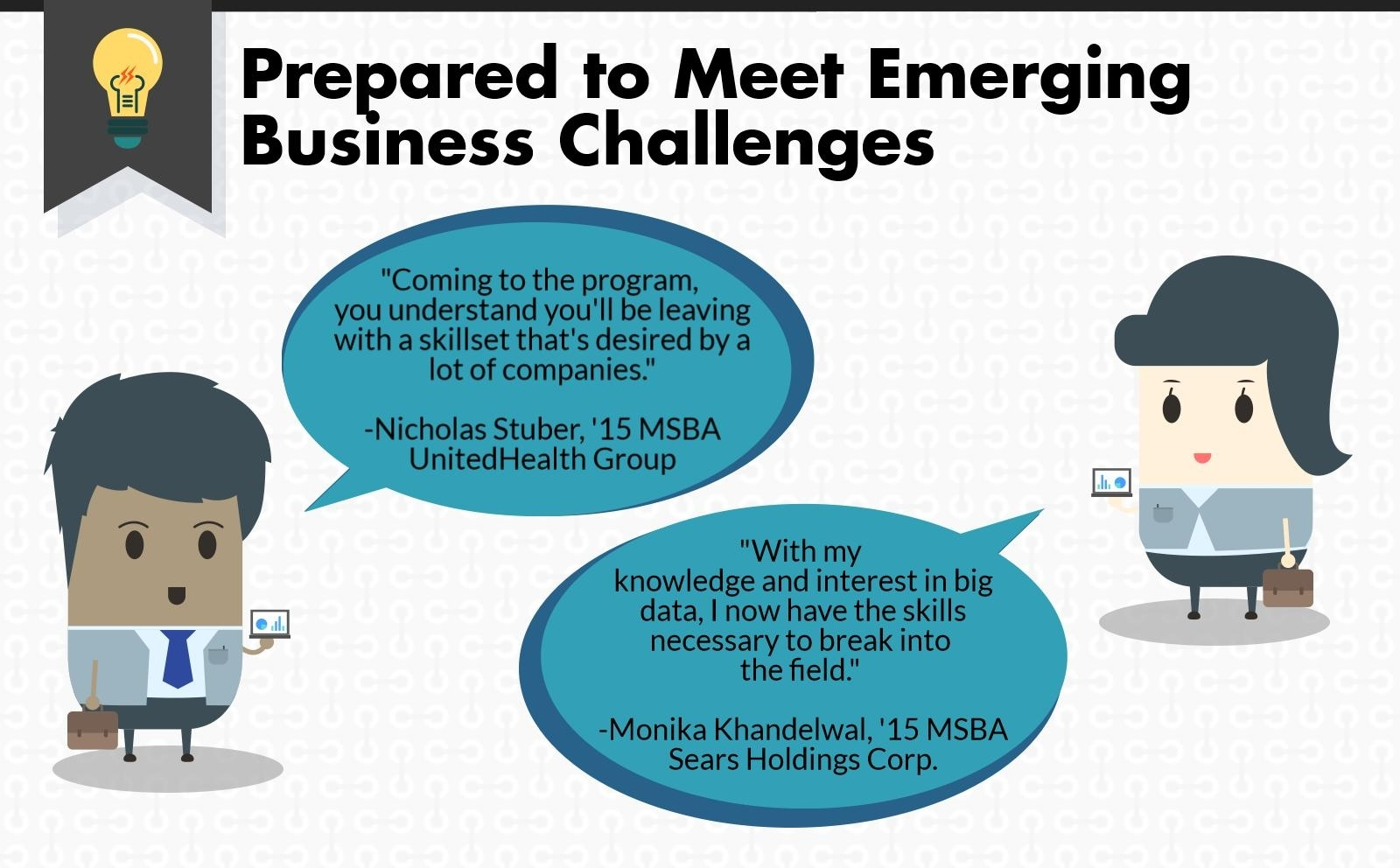 MSBA infographic, meeting emerging business challenges