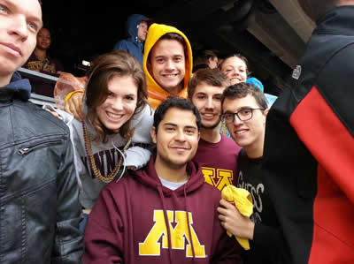Students in Minnesota Wear at a Sporting Event