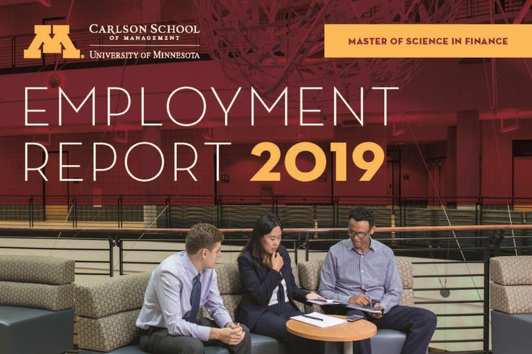 2019 Carlson School MSF Employment Report