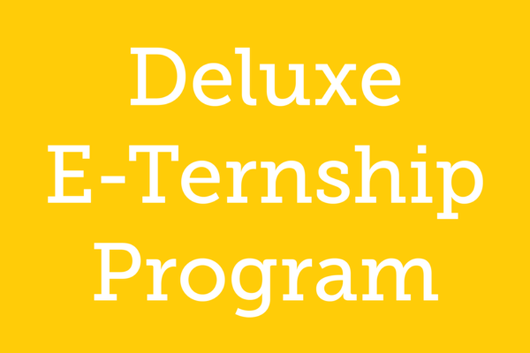 Deluxe E-Ternship Program Flyer