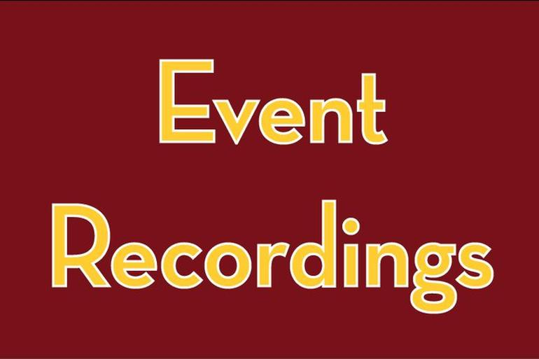 Event Recordings Banner