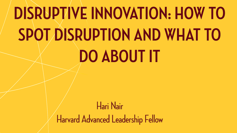 Disruptive Innovation webinar
