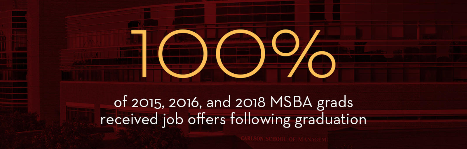 MSBA Placement at 100 Percent