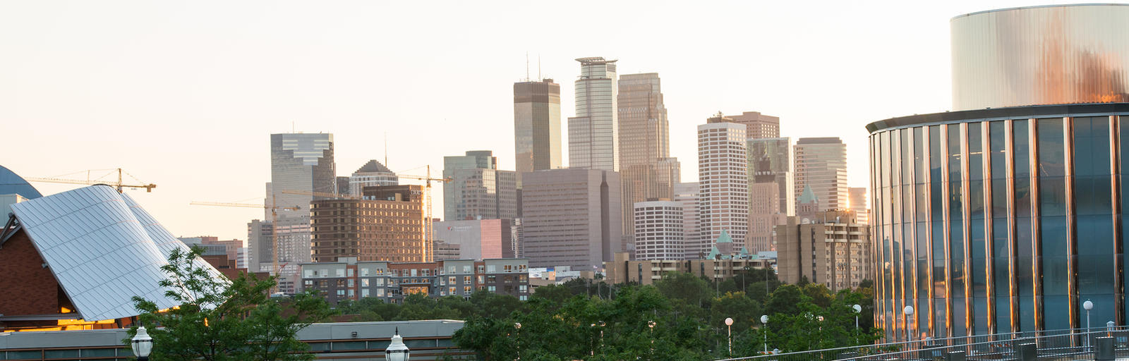 Minneapolis skyline as seen from University of Minnesota campus
