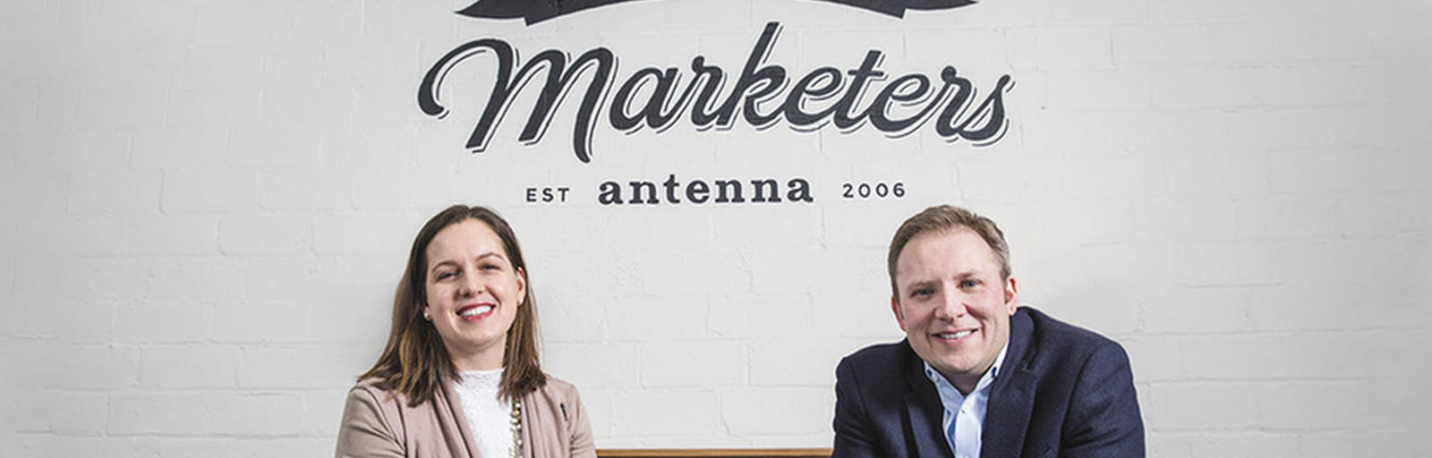 Brendon Schrader, '01 MBA, founded Antenna in 2006, while Jennifer Laible, '98 BSB, '02 MBA, joined the firm in 2012.