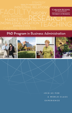 Cover of the PhD brochure