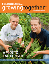 Land O Lakes Growing Together Magazine Cover