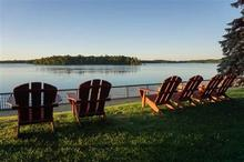 Photo of Adirondack chairs at Ruttgers Bay Lodge