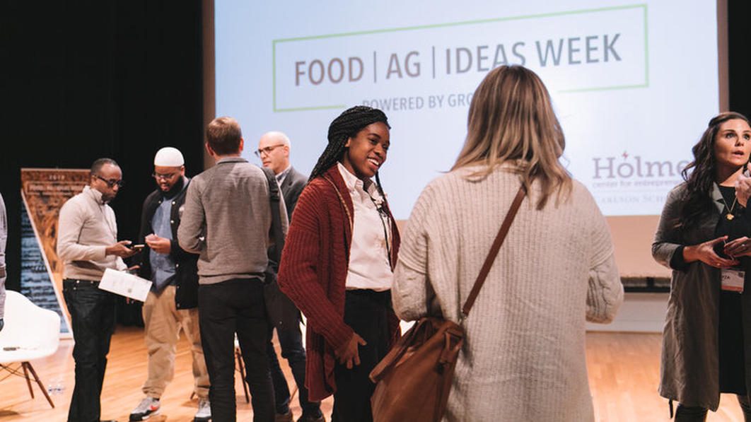 Food Ag Ideas Week networking on stage