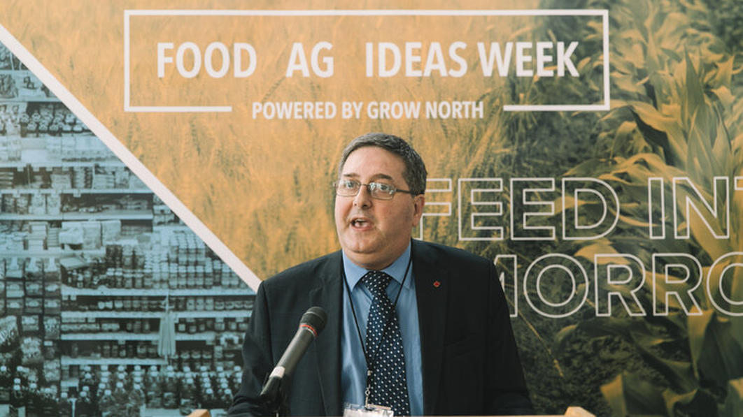 Food Ag Ideas Week presenter at mic