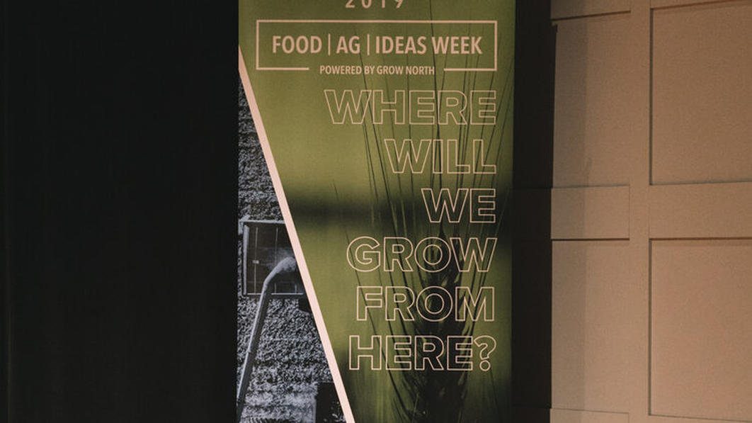 Food Ag Ideas Week check in signage