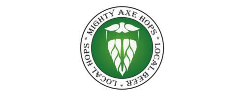 Mighty axe hops logo